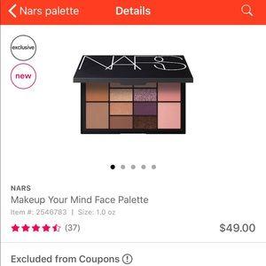 NARS make up your mind face palette